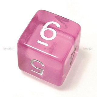 単品◆透明【ピンク】6面サイコロ(ダイス)