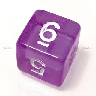 単品◆透明【紫】6面サイコロ(ダイス)