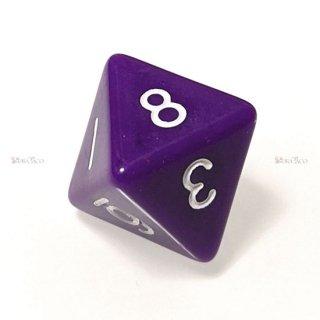 単品◆不透明【紫】8面サイコロ(ダイス)