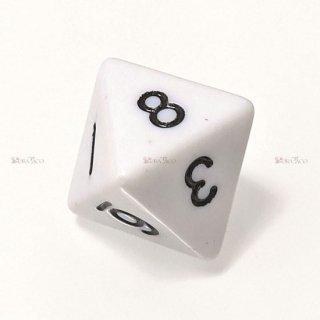 単品◆不透明【白】8面サイコロ(ダイス)