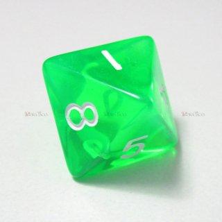 単品◆透明【緑】8面サイコロ(ダイス)