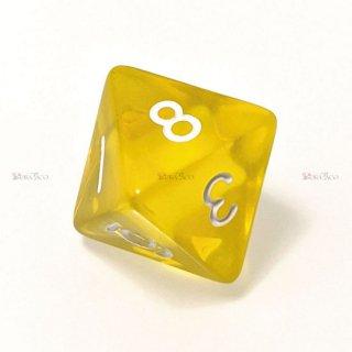 単品◆透明【黄】8面サイコロ(ダイス)