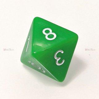 単品◆パール調【黄緑/白】8面サイコロ(ダイス)