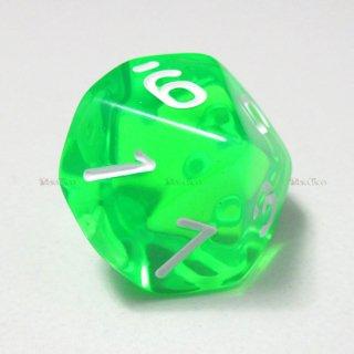 単品◆透明【緑】10面サイコロ(ダイス)