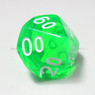 単品◆透明【緑】テンズ サイコロ(ダイス)
