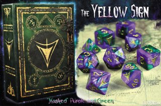 エルダーダイス第3弾 7種9個セット【イエローサイン/紫&緑】クトゥルフ神話 ELDER DICE