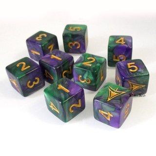 単品6面×1個◆エルダーダイス 第3弾【イエローサイン/紫&緑】ELDER DICE