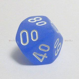 フロスト【ブルー&ホワイト】テンズ10面サイコロ(ダイス)