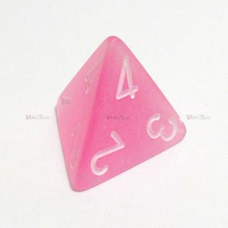 フロスト【ピンク&ホワイト】4面サイコロ(ダイス)