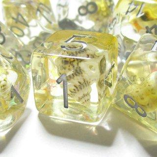 常夏の法螺貝【イエロー】 サイコロ7個セット