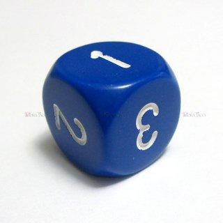 単品◆6面1〜3【ブルー&ホワイト】6面サイコロ(ダイス) XQ0306