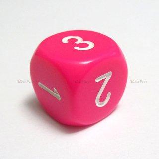 単品◆6面1〜3【ピンク&ホワイト】6面サイコロ(ダイス)