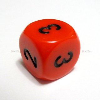 単品◆6面2-3-3-4-4-5【オレンジ&ブラック】6面サイコロ(ダイス)