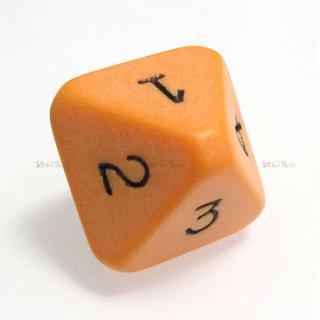 単品◆8面1〜4【オレンジ&ブラック】8面サイコロ(ダイス)