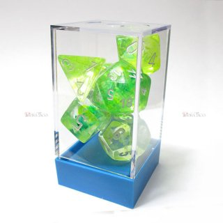 蓄光◆ラボ【スプリング&ホワイト】多面体7個セットサイコロ(ダイス) CHX30018