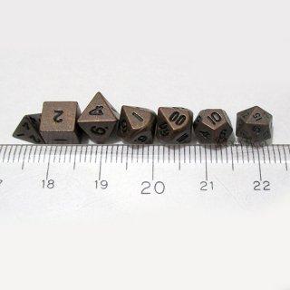 5mm マイクロダイス 7個セット【ブロンズカラー】