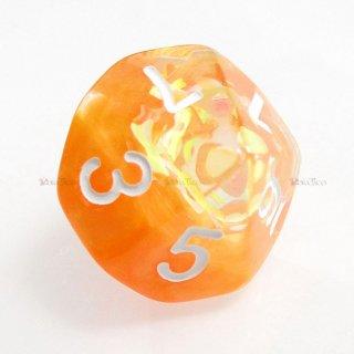 リボン型ラメ入り【オレンジ】 10面サイコロ