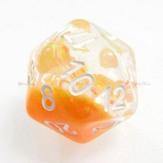 リボン型ラメ入り【オレンジ】 20面サイコロ