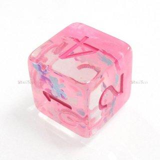 リボン型ラメ入り【ピンク】 6面サイコロ