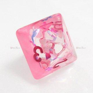リボン型ラメ入り【ピンク】 8面サイコロ