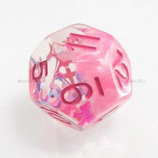 リボン型ラメ入り【ピンク】 12面サイコロ