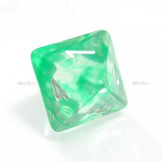 星雲ダイス【グリーン・透明】 8面サイコロ