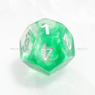 星雲ダイス【グリーン・透明】 12面サイコロ
