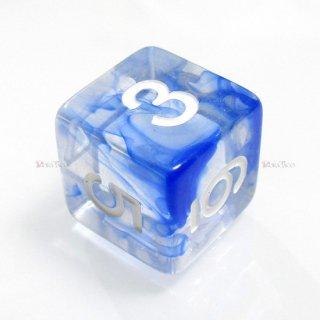 星雲ダイス【ブルー・透明】 6面サイコロ