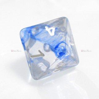 星雲ダイス【ブルー・透明】 8面サイコロ