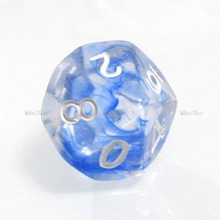 星雲ダイス【ブルー・透明】 10面サイコロ
