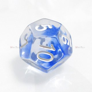 星雲ダイス【ブルー・透明】 12面サイコロ
