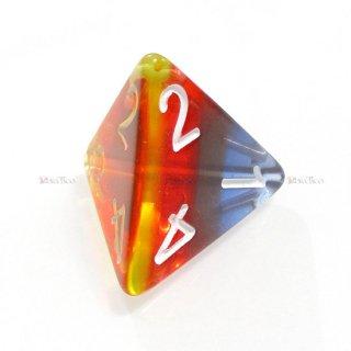 多層式レイヤーダイス【バーニングクラウド】 4面サイコロ