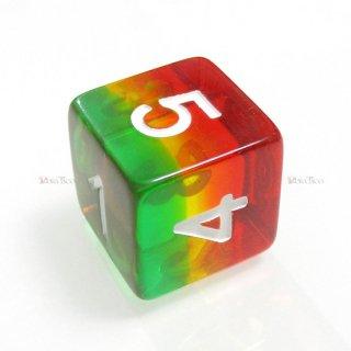 多層式レイヤーダイス【赤・黄・緑】 6面サイコロ