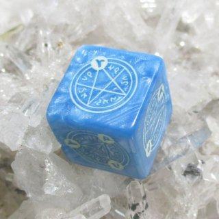 魔法陣ダイス【氷魔法】蓄光6面サイコロ