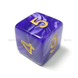 単品◆パール調【紫/金】6面サイコロ(ダイス)