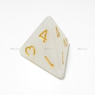 単品◆パール調【白】4面サイコロ(ダイス)