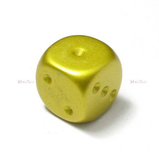 メタルコーティング【ゴールドカラー】6面サイコロ(ダイス) FMJ16MM4