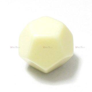 無地◆アイボリー 12面サイコロ(ダイス) CHX29045