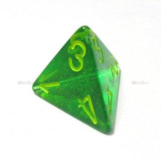 単品◆オーロラ【メイプルグリーン&イエロー】4面サイコロ(ダイス) PB0435