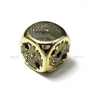 集積回路6面ダイス(ゴールドカラーコーティング) CV0045