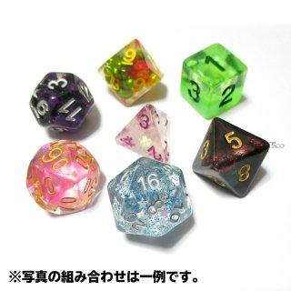 各面体ごとにランダム色の多面体7個セット