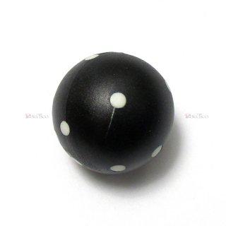 球体6面体ダイス【黒】