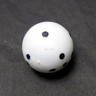 球体6面体ダイス【白】