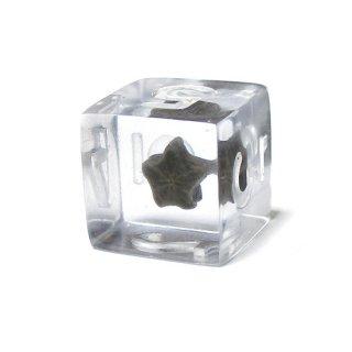 ミュージアムダイス【化石・ウミユリ-9】ハンドメイド6面ダイス