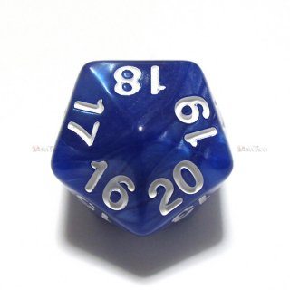 ライフカウンター パール調カウントダウン【ブルー&ホワイト】20面ダイス