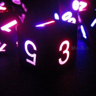 LEDエレクトリック多面体ダイス7個セット