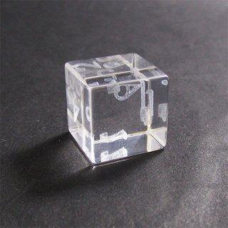 限定1個◆試作品◆3Dレーザー浮遊数字【レーザー焦点調整版】ガラス製6面サイコロ