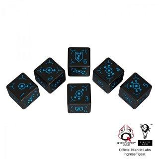 イングレス(Ingress)【ブラック&ブルー 6面×6個セット】 レジスタンス Resistance Q-WORKSHOP
