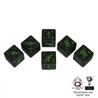 イングレス(Ingress)【ブラック&グリーン 6面×6個セット】 エンライテンド Enlightened Q-WORKSHOP