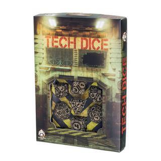 テック(Tech)【ベージュ&ブラックダイス 7個セット】Beige&Black Dice Set Q-WORKSHOP